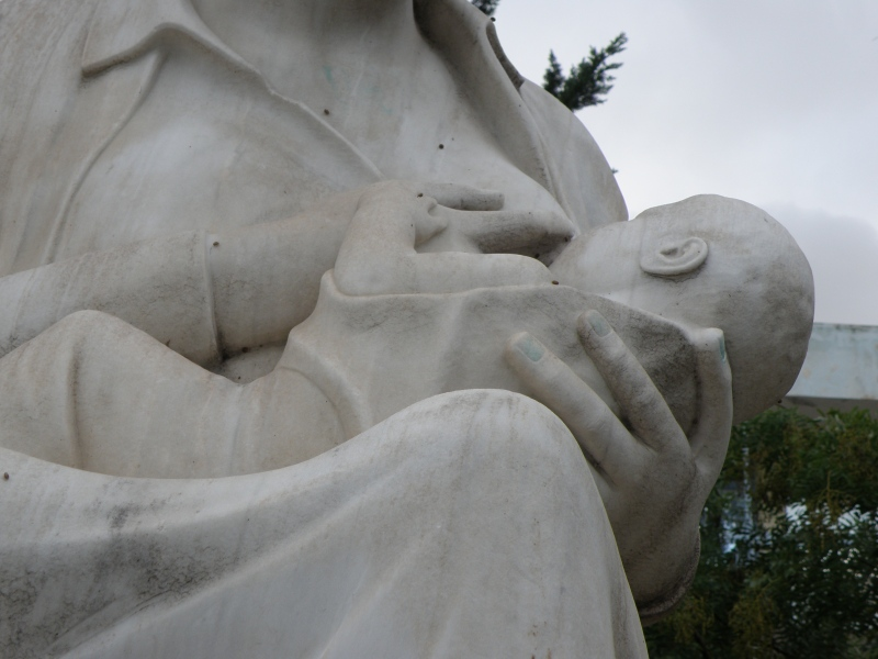 urban travel tales, Athens Greece, statue of mother, Elena's