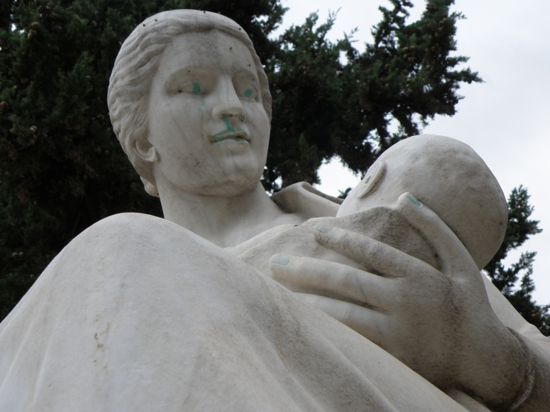 urbantraveltales, Athens Greece, statue of mother, Elena's