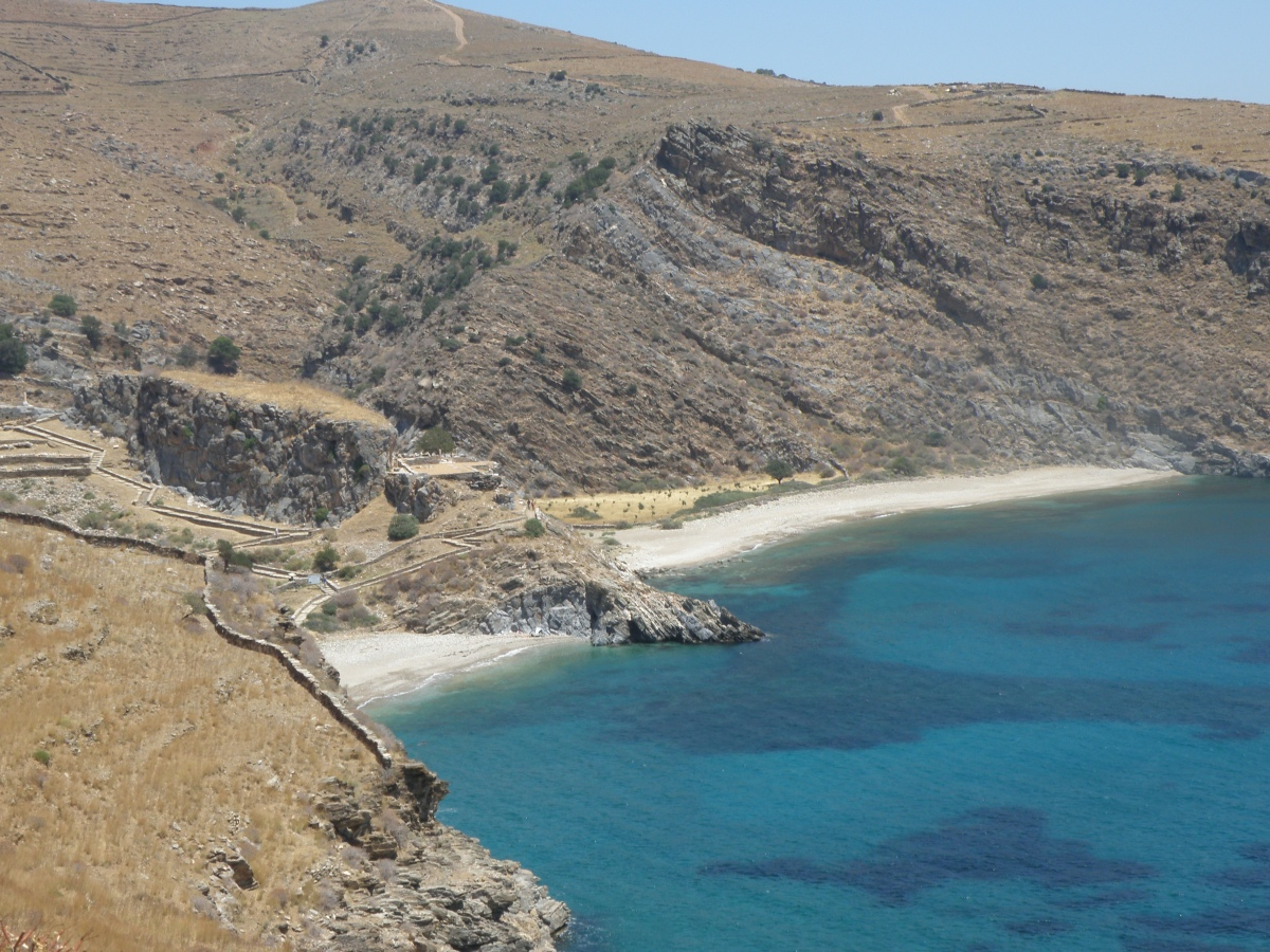 Walking the trail to the ancient Karthea, at the Greek island of Kea