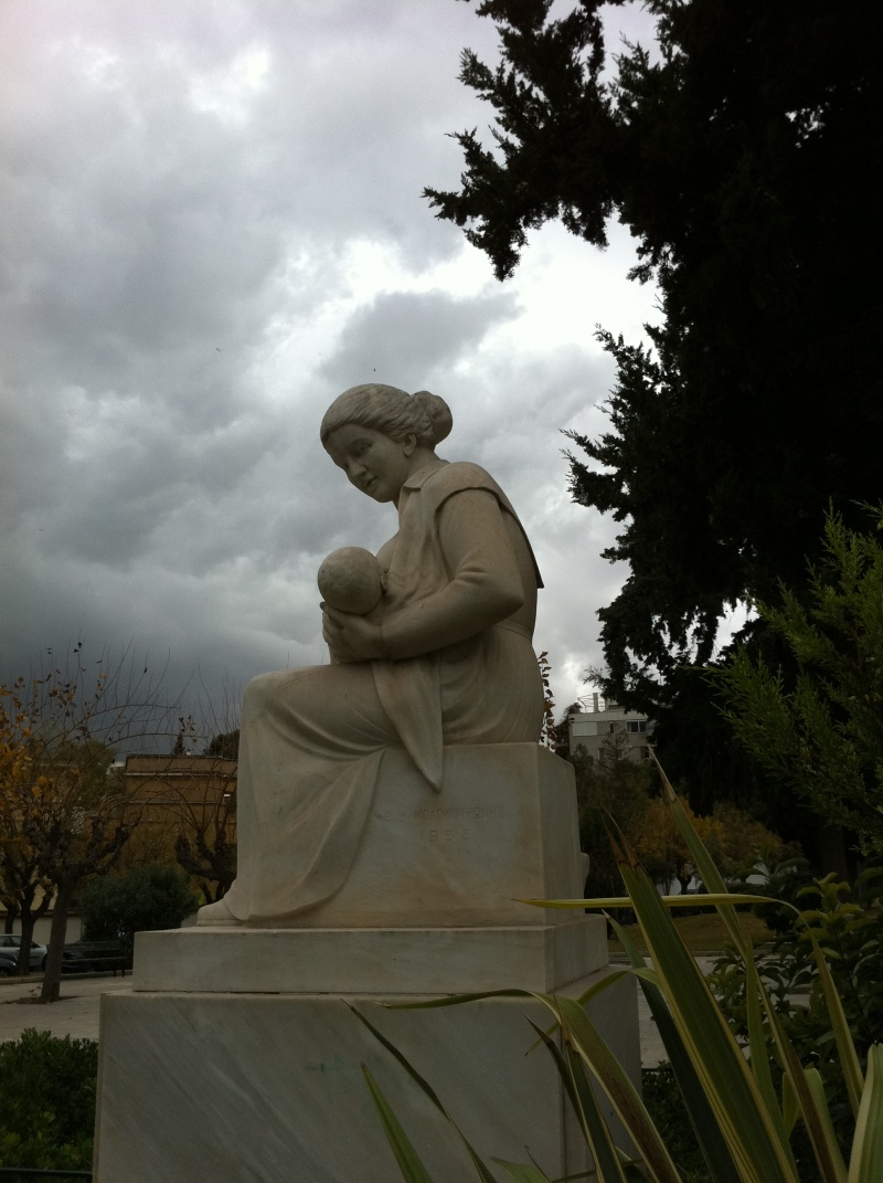 urban travel tales,statue in front of Maternity home, ELENA