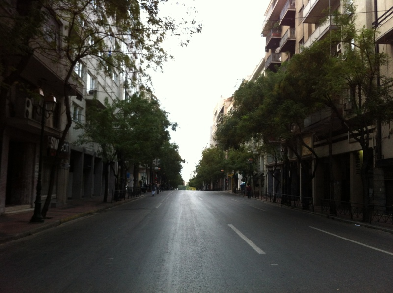 urbantraveltales, Athens November 17th city center rally
