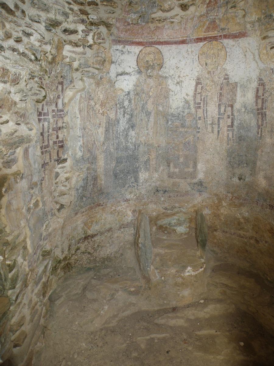 urban travel tales, Greece Cyclades Kea Byzantine mural