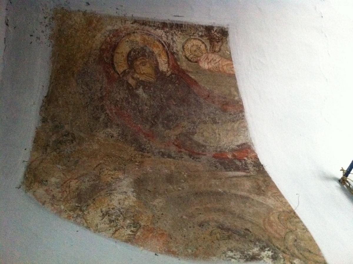 urbantraveltales, Greece Cyclades Byzantine mural need restoration