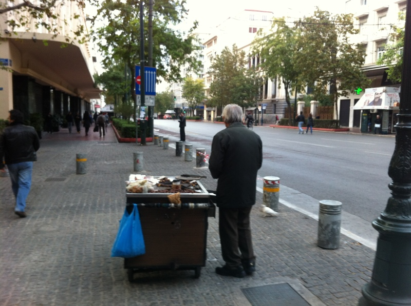 urban travel tales, Athens city center silences
