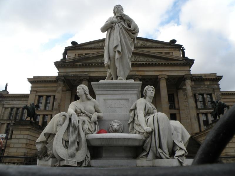 urban travel tales, Berlin,Schiller's statue Gendarmenmarkt Square