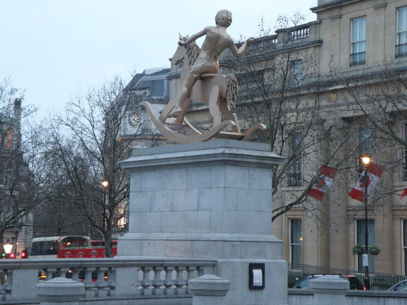 urban travel tales, Secret London,Trafalgar Square, Fourth Plinth