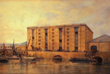 urban travel tales, Secret London, Granary Basin, painting by Lewis Cubitt