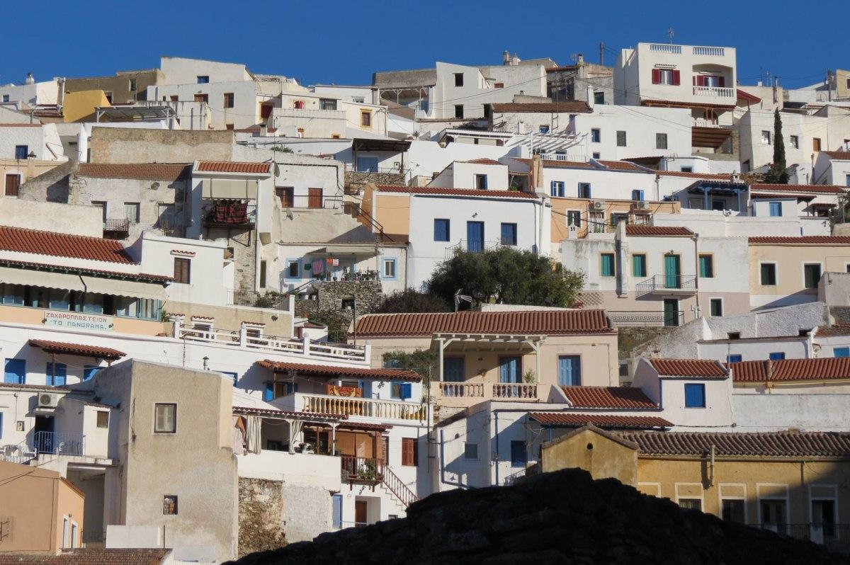 view of houses at Chora Kea Tzia Ioulida Greece