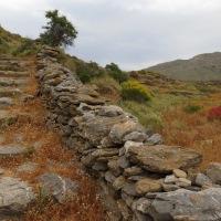 αρχαία πατήματα, μονοπάτια, Αμοργός, Μάιος 2015