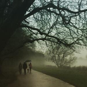 Richmond, riverside, fog, UK